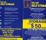 Self storage -from one square metre upwards