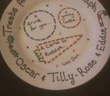 Santa and Rudolph Christmas plates