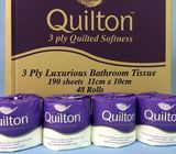 QUILTON TOILET PAPER 3PLY SHEET - CTN 48 ROLLS
