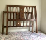 Vintage double rimu bed ends