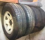 4 x Steel Rims and Tyres